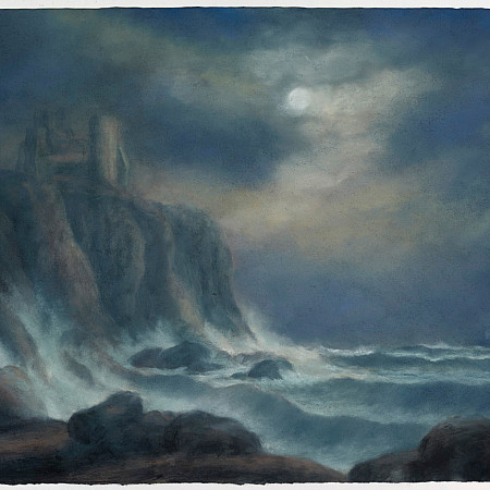 Luminous, a view of Tantallon Castle with Bass Rock (Homage to Alexander Nasmyth 2)