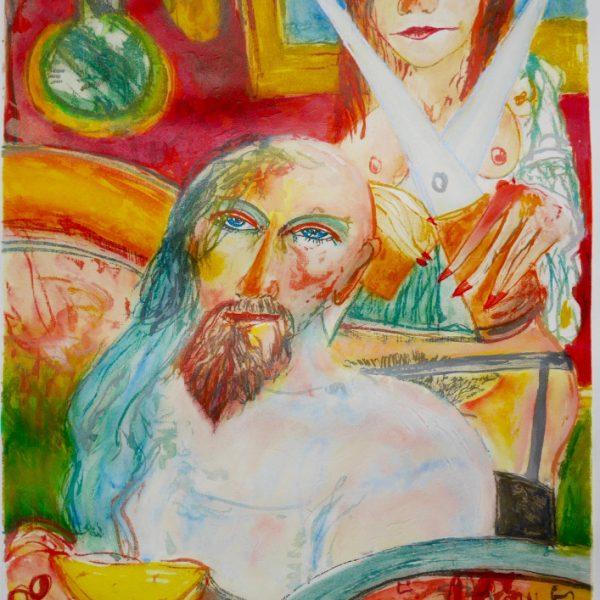 John Bellany - Samson and Delilah