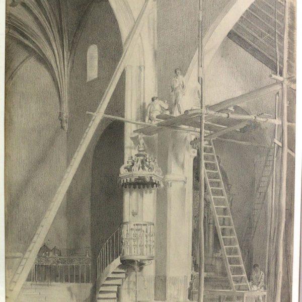 John Bulloch Souter - Interior, Plasencia Cathedral, Spain