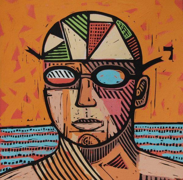 North Sea Swimmer - Fidra Fine Art