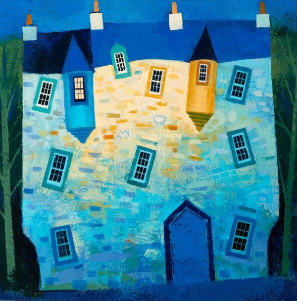 George Birrell - Lit Turret Window