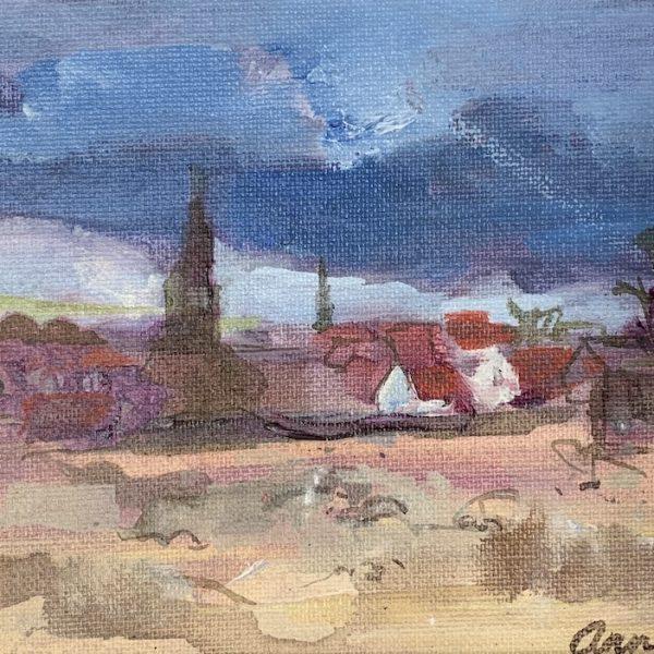 Ann Oram - Berwick from across the Sands