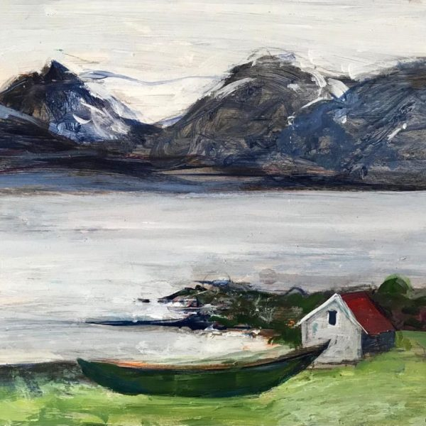 Ann Oram - Icelandic Mountains and Boat
