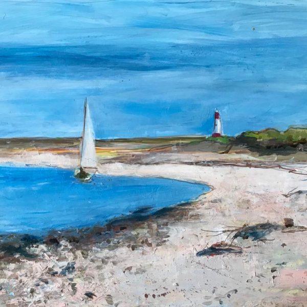 Ann Oram - Sailing Boat off Berwick